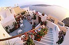 accommodation in santorini - Kavalari Hotel is centrally located in Fira, the main town of Santorini, and more specifically the Kavalari hotel is situated on the cliff of the Caldera and overlooks Santorini's world famous volcano.