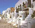 Traditional cycladic street scene in Folegandros
