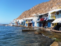 The pituresque village of Klima in Milos