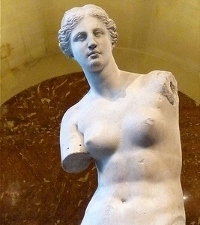 The world known statue of Venus de Milo