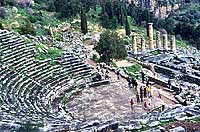 The ancient open theater of Delphi