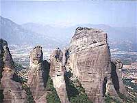 Distant view of Meteora