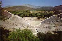 the ancient open theater of Epidaurus